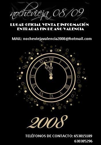 Fiestas nochevieja 2008 valencia
