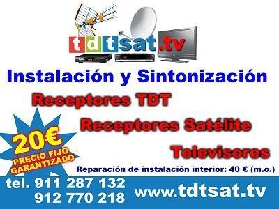 Antenistas de urgencia, tdt sat, tv, satélite, madrid.