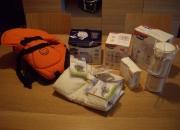 lote mochila porta bebes+ lactancia