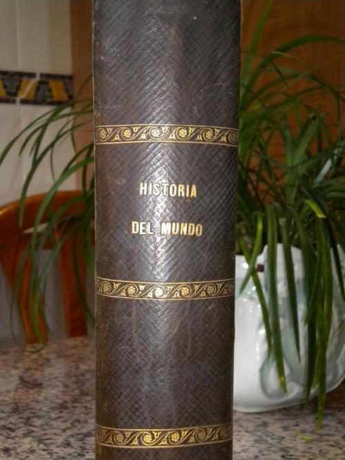 Libros antiguos. historia popular del mundo de ch. kravër año 1877 completa.