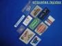 Etiquetas termoadhesivas tejidas para marcar ropa deporte
