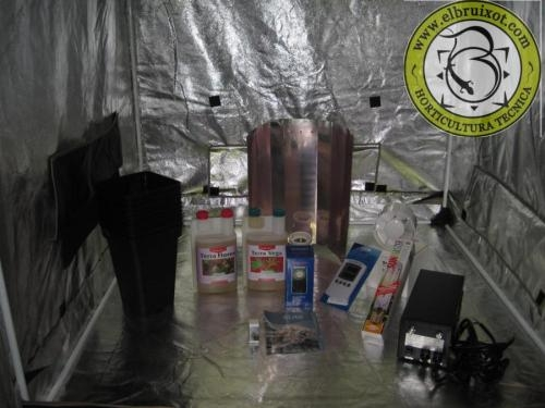 Kit elite con armario de cultivo interior 400/600w
