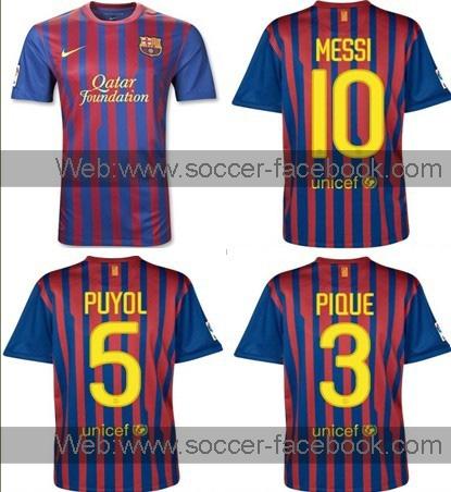 Camiseta de fútbol 11/12 para el barcelona, el real madrid