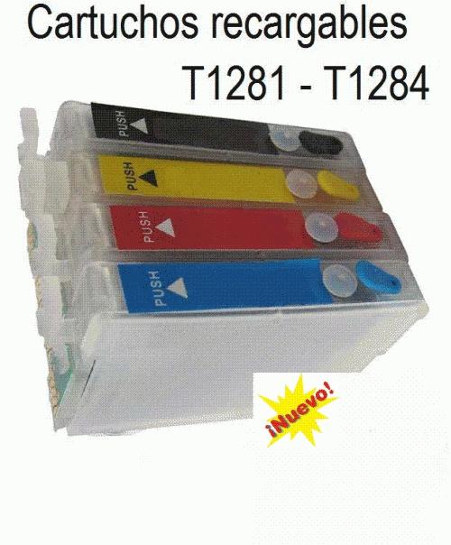 Cartuchos recargables epson t1281-t1284