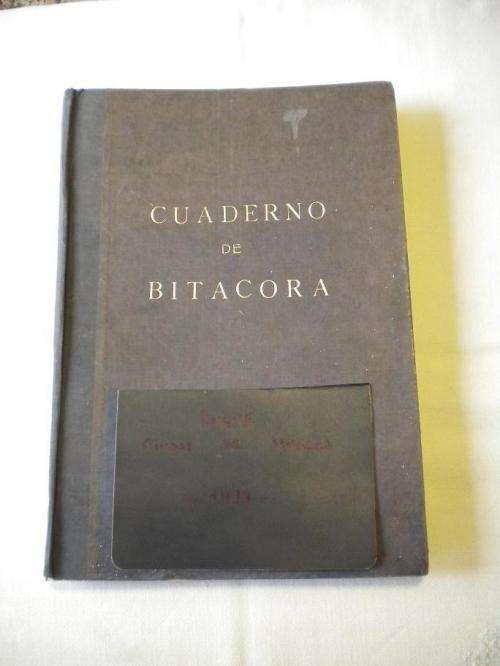 Cuaderno de bitacora de cuarto de derrota capitan del buque ciudad de huesca.