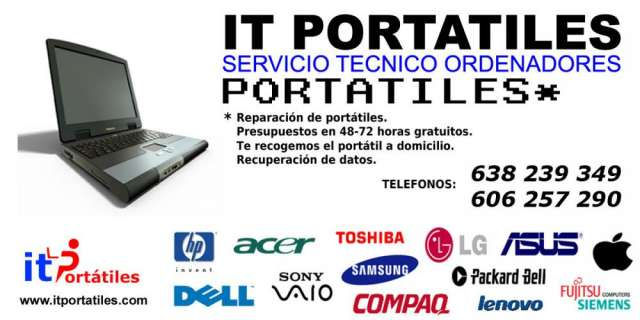 Servicio tecnico portatiles en valencia