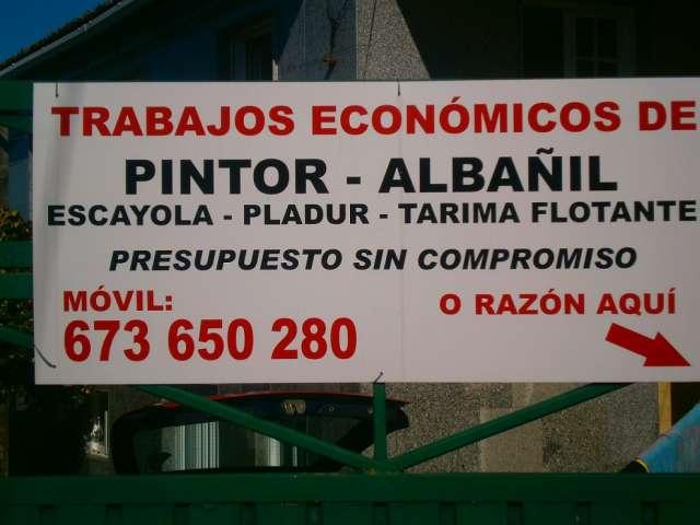 Se realizan trabajos economicos pintor albañil
