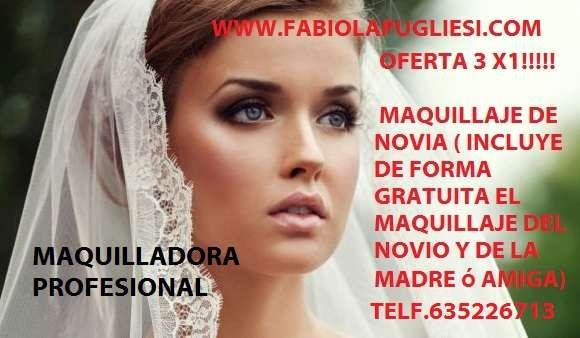 Maquilladora profesional en toda galicia oferta 3 x 1