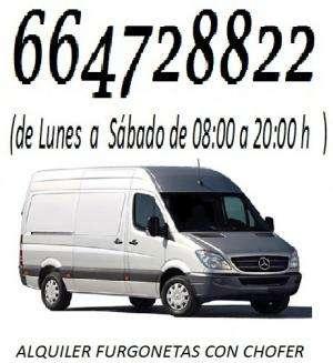 Servicios de transportes , mudanzas con furgonetas