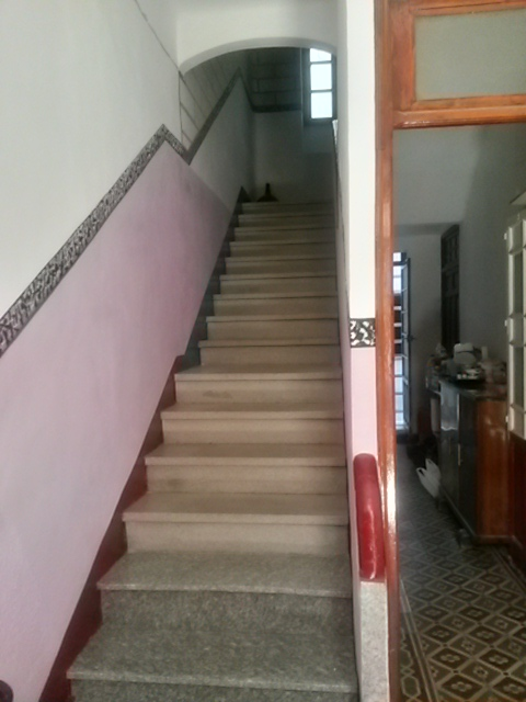 Escalera acceso a planta