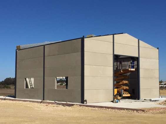 Paneles prefabricados de hormigón para cerramientos. las planchas de cemento que se pueden