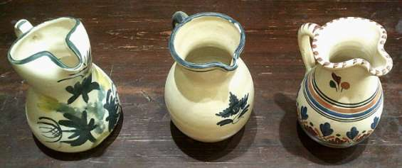 Lote de jarras de ceramica